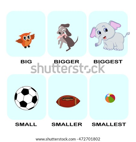 superlative word cartoon vector