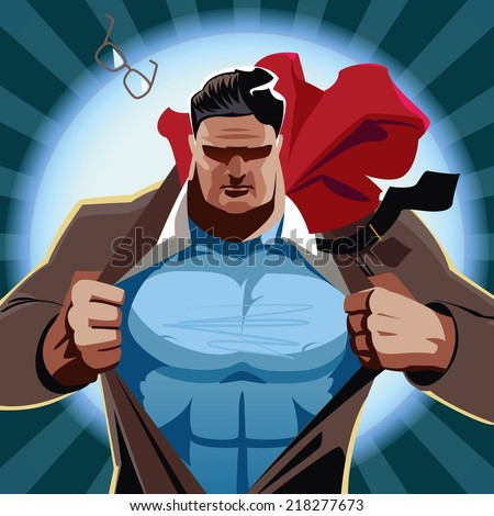 superman open his shirt