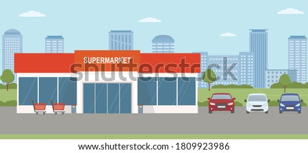 supermarket building with