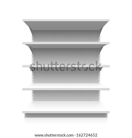 Supermarket shelf. Vector.