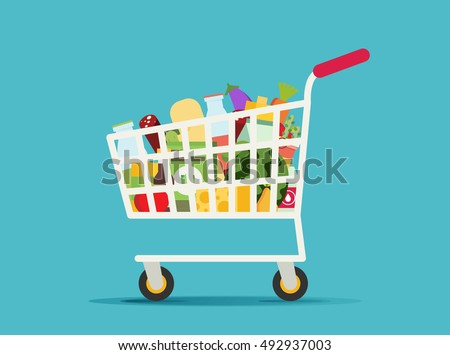Supermarket shopping cart