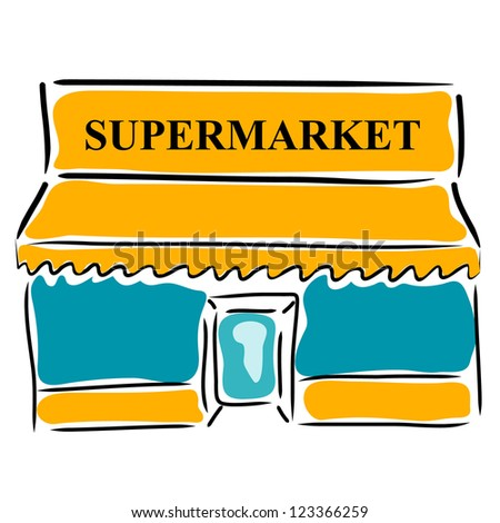 Clipart Supermarket Building Images & Pictures - Becuo