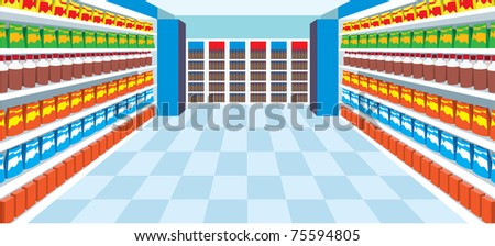 Supermarket. vector. no gradient, color full