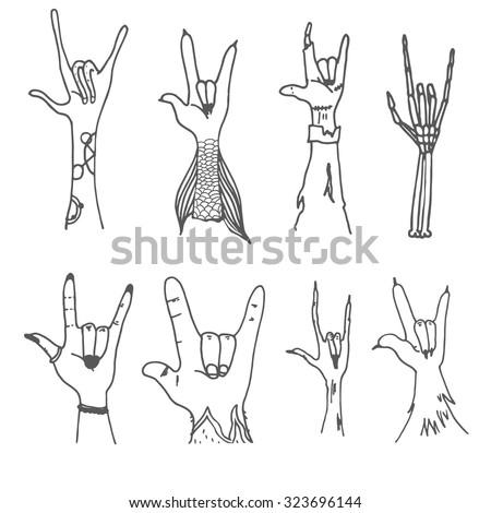 supernatural rock hands set