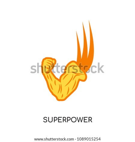 superpower logo isolated on