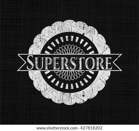 Superstore chalkboard emblem