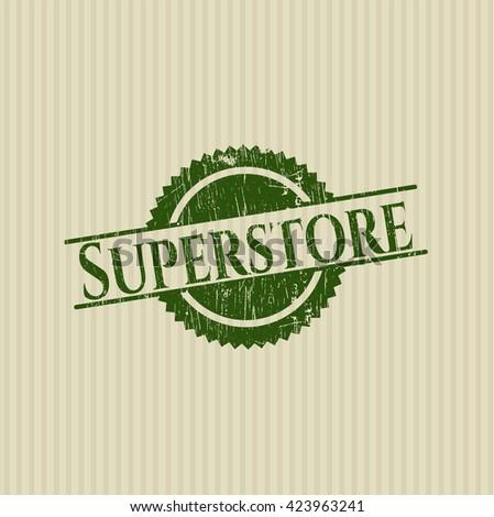 Superstore grunge style stamp