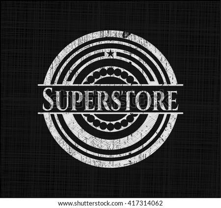 Superstore on chalkboard