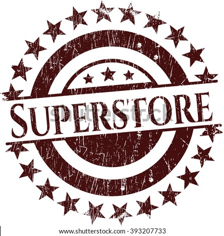 Superstore rubber stamp