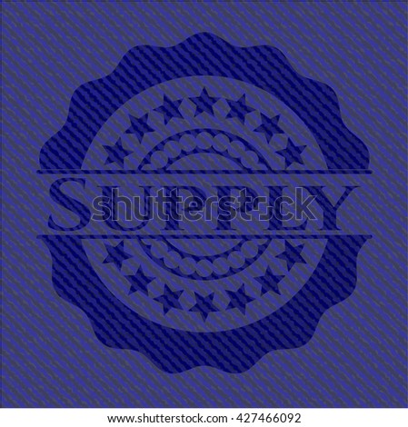 Supply badge with jean texture