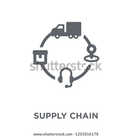 Supply chain icon. Supply chain design concept from Delivery and logistic collection. Simple element vector illustration on white background.