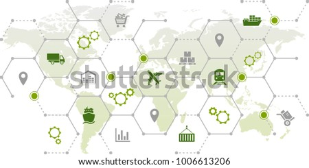 supply chain management - vector illustration