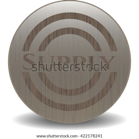 Supply retro wooden emblem