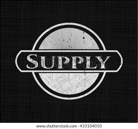 Supply written with chalkboard texture