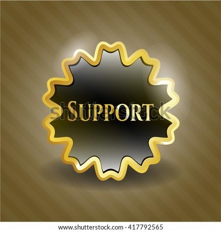 Support gold badge or emblem