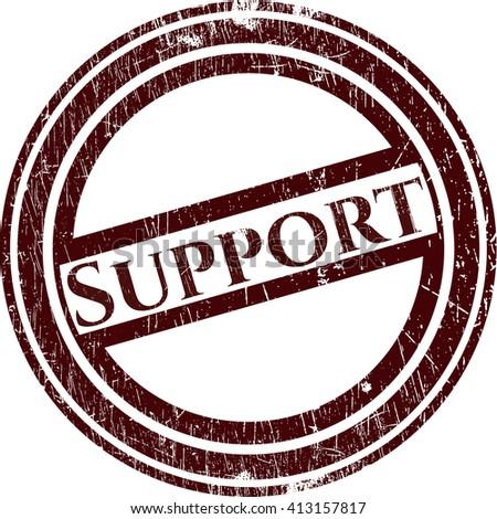 Support grunge seal