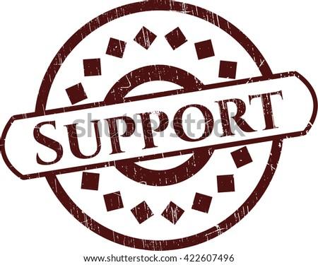 Support grunge stamp