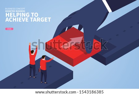 support  huge hands connect the