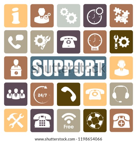 support icons set