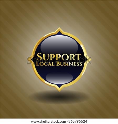Support Local Business gold emblem