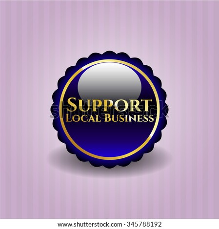 Support Local Business golden badge