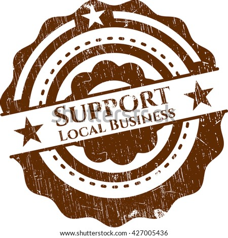 Support Local Business rubber texture