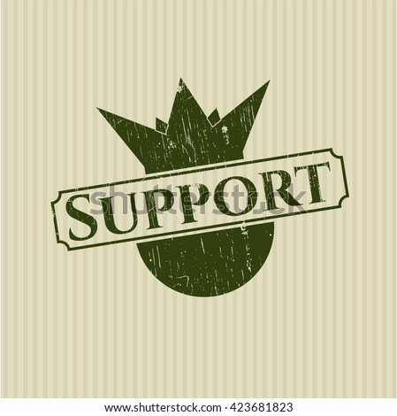 Support rubber grunge texture stamp