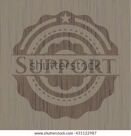 Support wood emblem. Retro