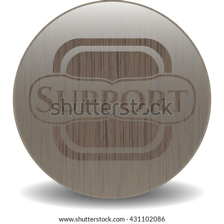 Support wood icon or emblem