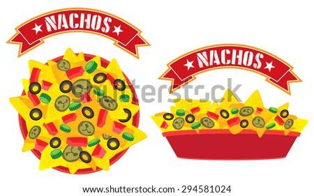 supreme cheese mexican nachos