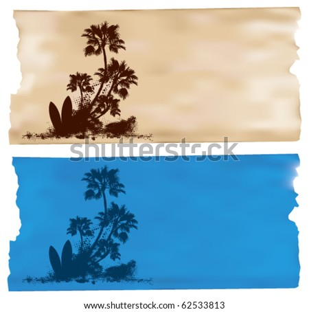surf horizontal banner with