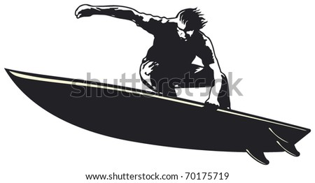 surf jump in aereal position