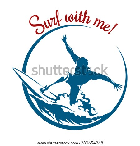 surf logo or emblem design