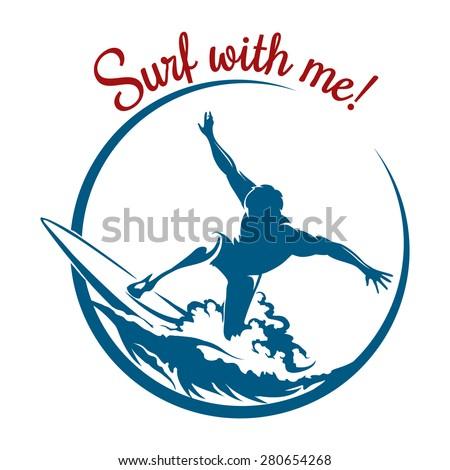 surf logo or emblem design