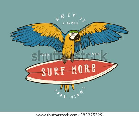 surf more   vintage colorful