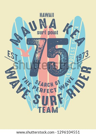surf print design for t-shirt print