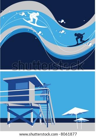 Surf sea Foto stock ©