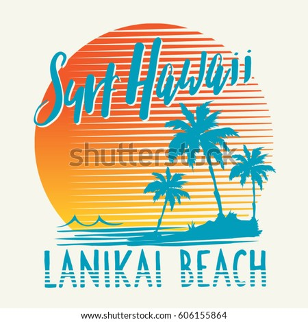 surf sport hawaii typography ...