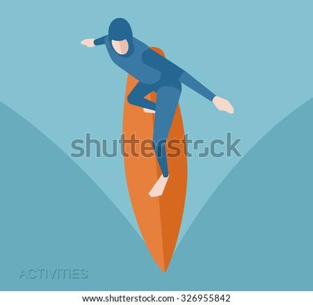 surf surfer surfing ocean sea wave sport poster