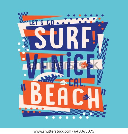 surf venice beach typography ...