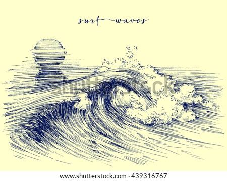 surf waves sea waves graphic
