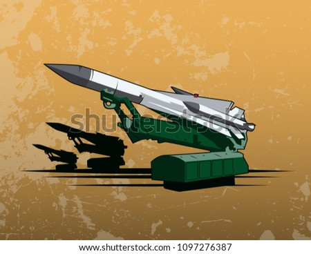 surface to air missile on