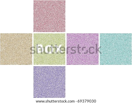 Surfaces of a Cube - stock vector