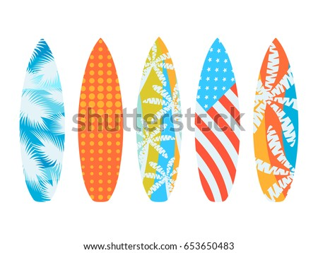 surfboards on a white