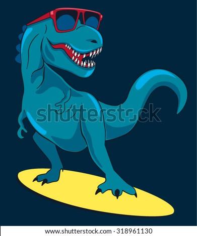 surfer  dinosaur  monster