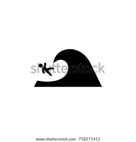 surfer falls from the wave icon