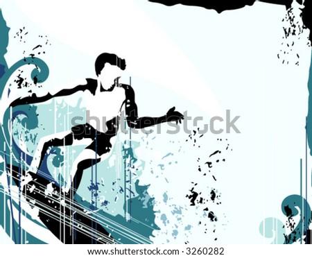 Surfer Grunge Background