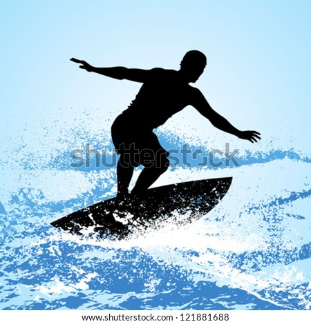 surfer riding a wave