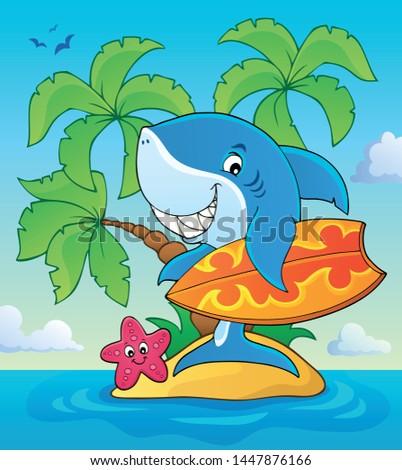 surfer shark theme image 3