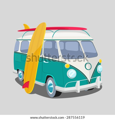 surfer van poster or t shirt